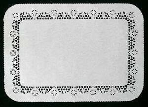 250 RECTANGULAR PAPER DOILIES Catering dining tableware kitchenware 25 X 37 CM
