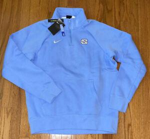 North Carolina Tar Heels UNC Nike Club Fleece Quarter-Zip Raglan Jacket Large