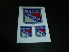 NEW YORK RANGERS TEAM HOCKEY NHL LOGO CARTE CARD STICKER 90s MACHINE VENDING PVI