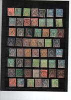 55 timbres groupe allégorique divers DOM/TOM colonies