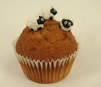 6 x Easter Sheep Lamb Plastic Cupcake Topper Cake Decoration