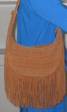 Elizabeth and James Dune Zoe Woven Suede Hobo with Fringe NWT $645