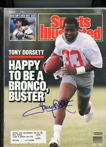 TONY DORSETT DENVER BRONCOS DALLAS COWBOYS SPORTS ILLUSTRATED signed autographed