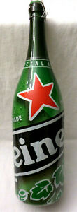 "HEINEKEN Beer 3 Liter Magnum Bottle Empty Special Edition 19"" with Box"