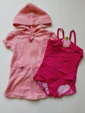 Girls Gymboree Candy Apple Swimming Swim Suit Cover Up Outfit Lot 18 24 2T