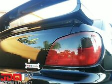02 03 Impreza WRX STI SMOKED Tail Light Overlays Tint Vinyl Film Precut REVERSE