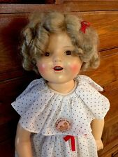 "VINTAGE 25"" SHIRLEY TEMPLE COMPOSITION Doll In Beautiful Condition!"