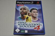 PLAYSTATION 2 gioco-Pro Evolution Soccer 4-CALCIO-TEDESCO COMPLETO ps2