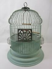 Vintage Steel Cathedral Top Bird Cage- Green