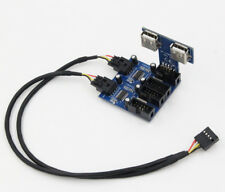 4-port USB 2.0 HUB for internal USB 9-pin expansion of  motherboard P/O