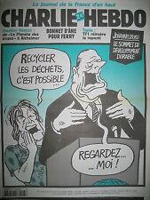 CHARLIE HEBDO 533 RECYCLAGE BERNARD TAPIE PAR CABU WOLINSKI GéBé SINé 2002