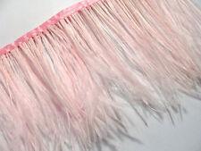 F106 PER 30cm- Pink Ostrich feather fringe Trim Brooch/Fascinator Material