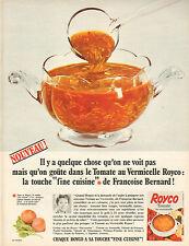 """Publicité Advertising 1966  ROYCO touche """"fine cuisine"""" de Francoise Bernard"""