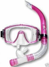 Two Bare Feet MASK & SNORKEL SET 1 Silicon PINK diving
