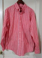 IZOD Mens M Long Sleeve Red Shirt 100% Cotton NEW