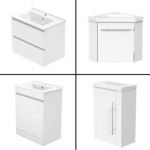 Badmöbel 40/45/50/60cm Weiß mit Unterschrank Waschtisch Badezimmer Möbel Schub.