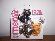 Joie Meow Cat Kitten Tea Cup Infuser ~ Black ~ NEW