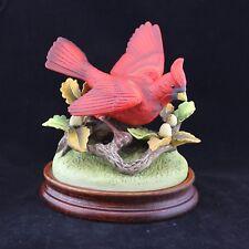 Andrea by Sadek Porcelain Figurine Cardinal Japan W/ Wooden Base