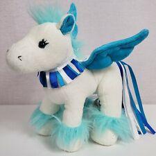 "Ganz Webkinz Sapphire Pegasus Blue and White Pegasus 8"" NO CODE"