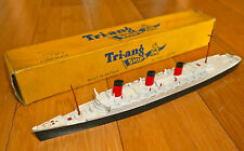 VINTAGE TRIANG MINIC R.M.S. QUEEN MARY M703 DIECAST MODEL SHIP BOXED RARE