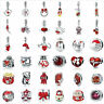Red Bracelet Charms Beads 925 Sterling Silver DIY Pendants Xmas Gifts VOROCO NEW