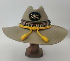 Vietnam Band Us Army 3rd Squadron 5th Cavalry Tan Cowboy Hat Gold Acorn