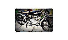 1950 vincent comet Bike Motorcycle A4 Retro Metal Sign Aluminium