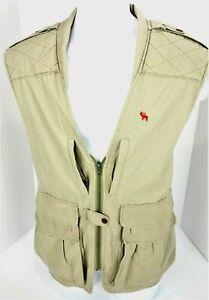 Large Gary Neese Hunting Safari Vest Vented USA Mens Beige Tan
