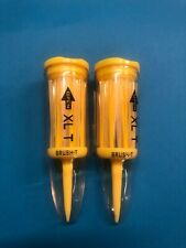 Brush-t Golf Tees 2 Pack - XLT (3.125 Inch) - Yellow