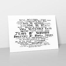 Green Day - Art Studio A2 Lyrics Poster - American Idiot - Noir Paranoiac