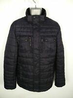 MENS C&A CANDA NAVY BLUE ZIP/BUTTON UP PADDED WINTER PUFFER JACKET SIZE S SMALL