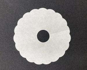 Pilsdeckchen aus Saugstoffpapier UNI in Weiss, Ø 90mm mit 20mm Innenloch , 1000