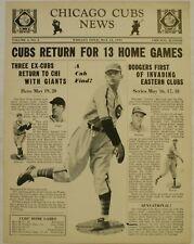 May 12 1939 Chicago Cubs News Newsletter Gene Lillard Cover Baseball Stan Hack