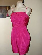 NEW ANTHROPOLOGIE PLENTY TRACY REESE*PRICILLA PINK RUCHED COCKTAIL DRESS*4