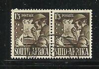 Album Treasures South Africa Scott # 89  1sh 3p Signal Corps VFU CDS Pair