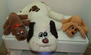 Vintage Tonka POUND PUPPIES  Plush Dog and Puppy Lot of 3 1980's Stuffed Toy