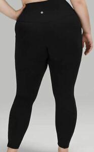 "Lululemon Women's Align Pant 25"" High Rise Pockets Nulu Black Size 8 US  NWT"