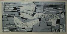Leonard Nelson abstract serigraph Philadelphia modernist modern art mid century