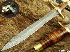 "ALISTAR XL 15"" HANDMADE DAMASCUS STEEL DOUBLE EDGE HUNTING DAGGER KNIFE (4395-25"