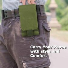 Army Camo Portable Outdoor Sports Tactical Molle Phone Pouch Bag Case For iphone