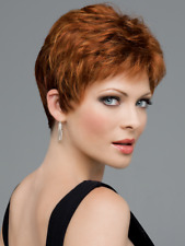 JEANNIE Wig by ENVY, Medium Brown, Mono Top & Lace Front, *CLEARANCE!* Pixie Cut