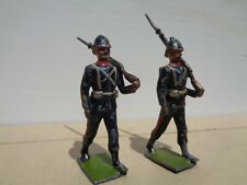 vintage Britains 35, Royal Marines Artillery 1908 2 soldiers hollowcast lead