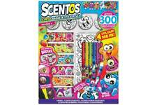 Scentos Scented Sticker & BADGET Kids Set W/sticker Rolls/fineline Markers 3y