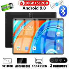 """Android 9.0 10.1"""" Tablet 10+512GB Bluetooth WiFi HD 2560* 1600 10 Core Game GPS"""