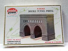 MODEL POWER  #1521 N scale kit DOUBLE TUNNEL PORTAL New in box