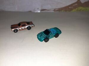 Two Vintage Micro Machines  Miniature Toy Cars .