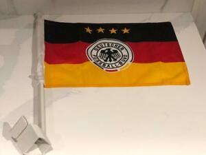 """Team Germany International Soccer 11.5"""" x 15"""" Single Sided Car Truck Window Flag"""