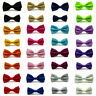 Men Boys Kids Child Tuxedo Satin Solid Color Adjustable Wedding Bowtie Bow Tie