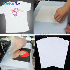 10pc T-Shirt Print Iron-On A4 Heat Transfer Paper Sheets Dark/Light Fabric Cloth