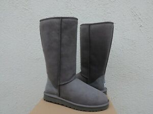 UGG GREY CLASSIC TALL SUEDE/ SHEEPSKIN BOOTS, WOMEN US 10/ EUR 41 ~NEW